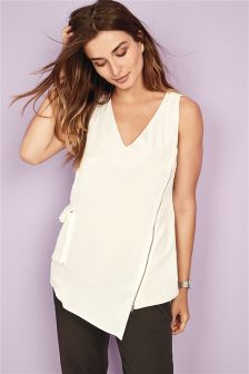Sleeveless Zip Detail Top