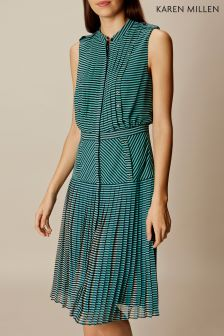 Karen Millen Fluid Pleat Colourblock Dress