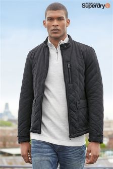 Superdry Black City Quilted Jacket