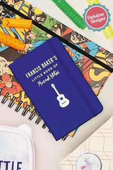 Personalised Music Notes Notebook By Oakdene