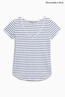 Abercrombie & Fitch Blue Stripe Tee