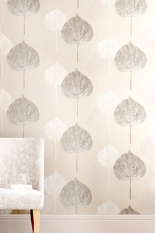 Paste The Wall Tranquil Leaf Wallpaper