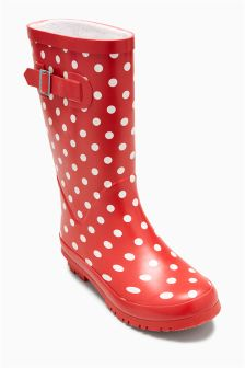 Polka Dot Wellies (Older Girls)