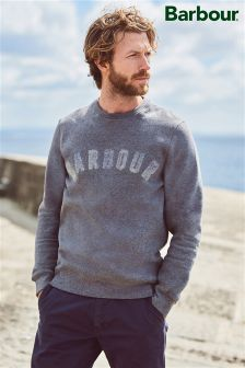 Barbour® Grey Logo Crew Sweater