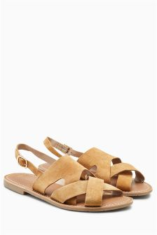 Leather Slingback Sandals