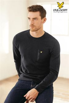 Lyle & Scott Black Zip Pocket Sweatshirt