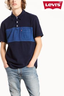 Levi's® Dark Indigo Sunset Pieced Polo Shirt