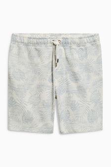Palm Print Jersey Shorts