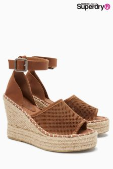 Superdry Tan Anna Espadrille Wedge