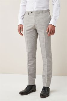 Melange Linen Blend Suit: Trousers