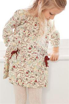 Floral Long Sleeve Dress (3mths-6yrs)