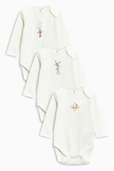 Circus Animal Long Sleeve Bodysuits Three Pack (0mths-2yrs)