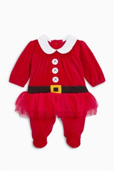 Mrs Santa Tutu Sleepsuit (0mths-2yrs)