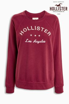 Hollister Burgundy Crew Sweat