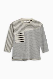 Long Sleeve Spliced T-Shirt (3mths-6yrs)
