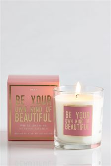Be Your Own Kind Of Beautiful Sentiment Candle