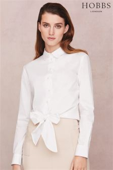 Hobbs White Ella Shirt