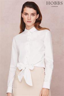 Hobbs White Ella Shirt
