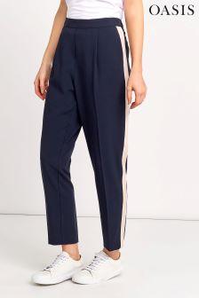 Oasis Multi Navy Side Stripe Trouser