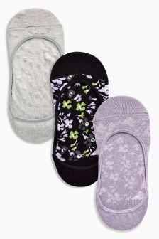 Floral Pattern Footsies Three Pack
