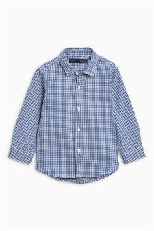 Gingham Long Sleeve Shirt (3mths-6yrs)