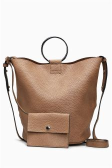 Ring Detail Bucket Bag