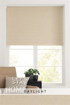 Natural Linen Look Roller Blind