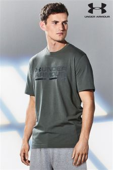 Under Armour Gym Green Shield Lockup T-Shirt