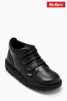 Kickers® Black Kick Three Strap Shoe