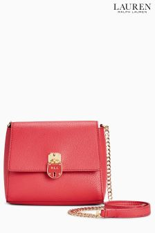 Lauren Ralph Lauren Skyler Cross Body Red Bag
