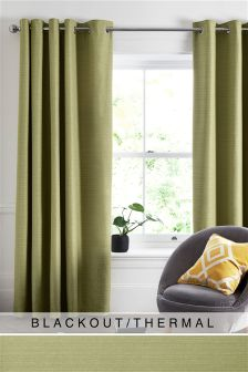 Textured Slub Studio* Eyelet Blackout/Thermal Curtains