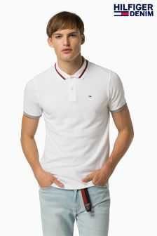 Hilfiger Denim White Basic Stretch Poloshirt