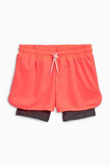 Double Layered Sporty Shorts (3-16yrs)