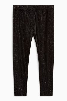 Velour Sparkle Leggings (3-16yrs)