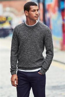 Mens Jumpers Plain Textured Amp Cable Jumpers Next Uk