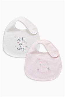 I Love My Mummy And Daddy Regular Bibs Two Pack