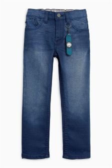 Coated Regular Jeans With Skateboard Keyring (3-16yrs)