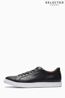 Selected Homme Black Leather Sneaker
