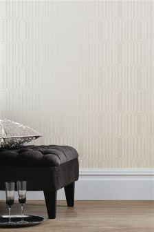 Paste The Wall Glitter Geo Wallpaper