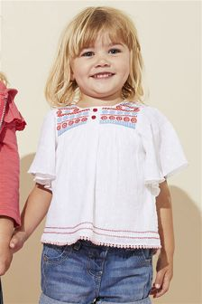 Embroidered Folk Blouse (3mths-6yrs)