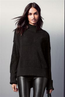 Stud Embellished Sweater