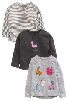 Llama Print T-Shirts Three Pack (3mths-6yrs)