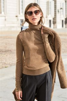 Wool Blend Roll Neck