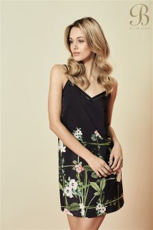 B By Ted Baker Black Secret Trellis Printed Chemise