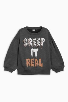 Halloween Slogan Sweater (3-16yrs)