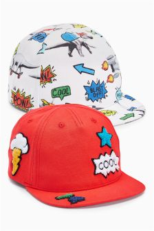 All Over Print Caps Two Pack (Younger Boys)