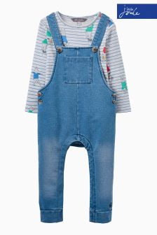Joules Baby Denim T-Shirt And Dungaree Set