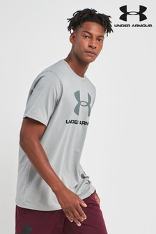 Under Armour Gym Grey Heather Sportstyle Logo T-Shirt