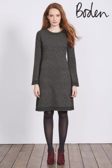 Boden Charcoal Melange Claudie Knitted Dress