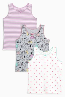 Character Printed Vests Three Pack (1.5-12yrs)
